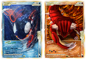 Kyogre Groudon Legends by MapleDragon