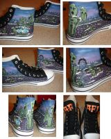 Art of Drowning shoes by FuzzyHobbit