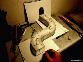 3D Drawing - World of illusion by NAGAIHIDEYUKI
