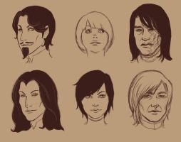 ASoIaF Headshots II by Prof-Dr-Dr-Weird