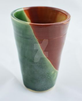 Green Shino cup by FoxCunningTrickster