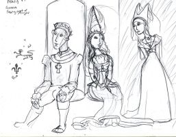sketch: Henry VI, Margaret of Anjou, Jacquetta by pumqin