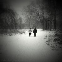 snow couple by lostknightkg