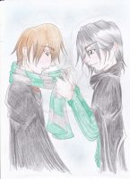 You're cold - Remus and Regulus by Zayhad