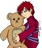 Gaara and Mr.Bear by queenofcats81