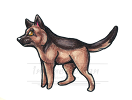 German Shepherd Chibi by InsaneRoman