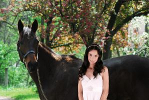 Girl with Thoroughbred by elusiveelegance