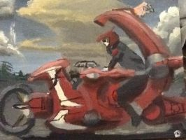 Card Games on Motorcycles painting by theoddlydifferentone