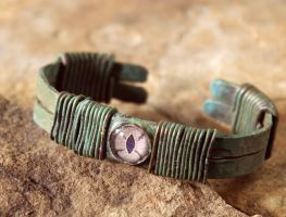 Hammered Copper Watcher Bracelet by OrestesGraphics