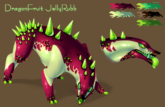 Dragon Fruit JellyRubb Auction [ENDED] by GasMaskMonster