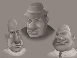 3 faces by Kameia