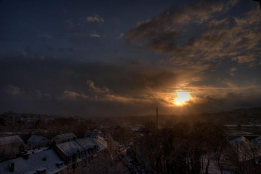 Sunset after Snowfall by Janszoon