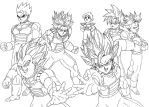 Saiyans at end of DBZ by Gothax