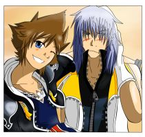 Riku and Sora by nevew
