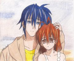 Tomoya And Negisa-Color by RavenTheAngelofDarkn