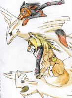 Deidara and Toby wolves by GothicRoseNarutard