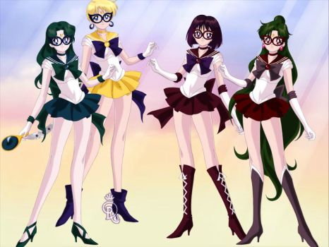 Sailor V and her crew 2 by Lovely-Girl-10