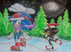 Sonic merry christmas 2010 by shadowhatesomochao