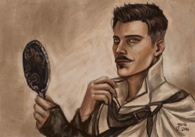 Dorian with mirror by slugette
