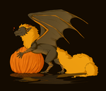 Halloween, Dragons and Pumpkins by smeemee