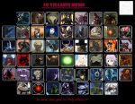 Top 50 Favorite Characters - Villains by Makuta52