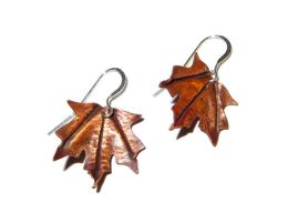Forged Copper Earrings by salvagedsword