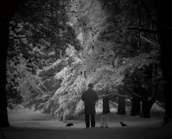 Man in the Snow by gperkins10
