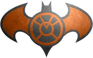 Batman Orange Lantern Metalic Logo by KalEl7