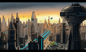 Future Cityscape by Minionslayer