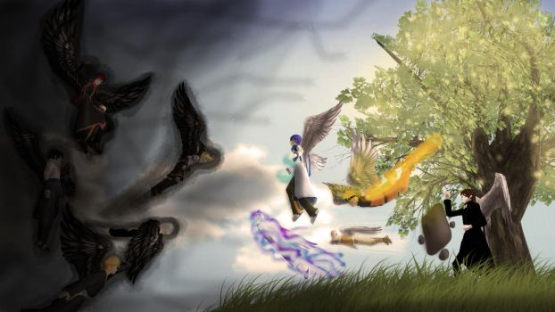 (MMD) Battle for the Tree of Balance by Riffadewi05Anggie