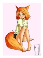 Fox Girl by littleriyu