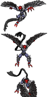 Ravemon Burst Mode Recolour by Wooded-Wolf
