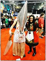 Alice and Pyramid Head - October Expo 2012 III by jagged66
