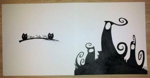 Silhouetted Figures Card by theLastSamu