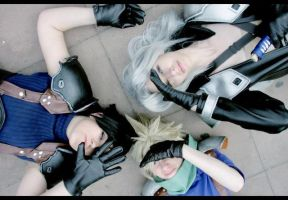 Cloud,Zack,Sephiroth- sunlight by Maryru