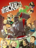 AOTS Comic-Con Poster by EricGravel