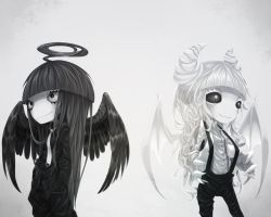 Black Angel And White Demon. by Meammy