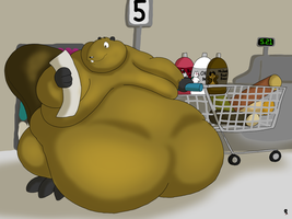 Beaver Holiday Shopping by Big-Wolf