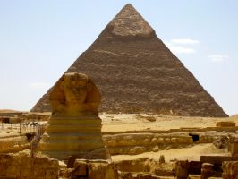 the Sphinx and the Pyramid1 by Jazzlednightmare16