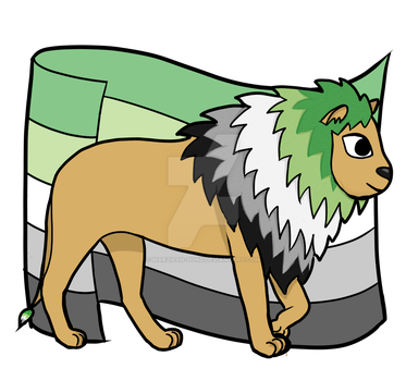Aromantic Pride Lion by marzipan-pond