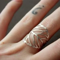My favorite filigree leaf ring by Brillville