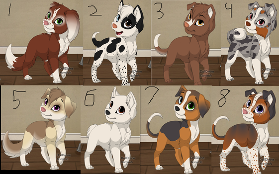 Dog Adoptables 1 by Sigery97