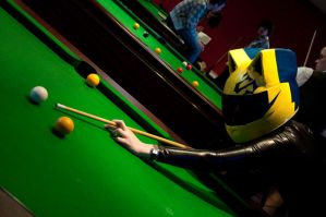 Celty Playing Pool 2 by AkraruPhotography