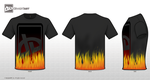 black t-shirt flames by silverkaseyplatinum
