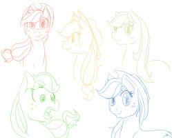 Applejack Sketches 3 by Geomancing