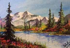 ACEO Mountain Lake #5 by annieoakley64