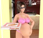 Pizza Delivery by PreggoBellyLover