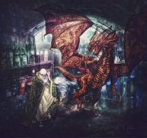 Dragon in the Laboratory by Shawna Mac by ShawnaMac