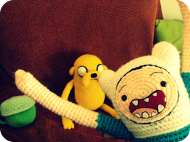 Finn + Jake, again! by Nouko-chan