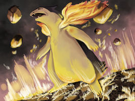 Typhlosion Used Eruption by Madame-Clockwork